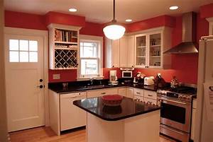 Phinney kitchen traditional kitchen seattle by for Kitchen colors with white cabinets with red and white wall art