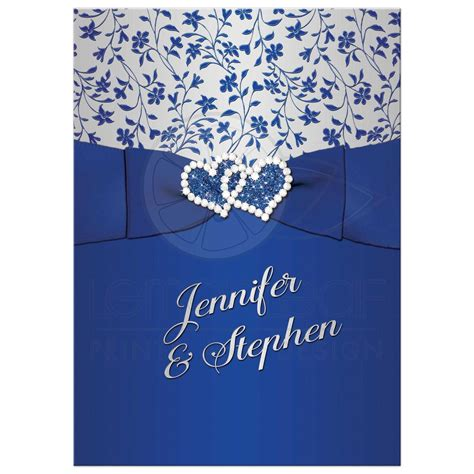 faire part mariage bleu royal 25th wedding anniversary invitation royal blue silver