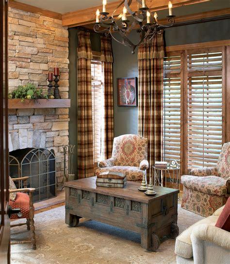 impressive plaid curtains decorating for living room traditional