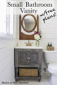 Small Master Bathroom Vanity + Free Plans!