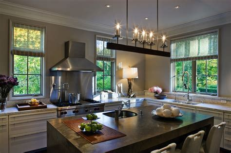 Linear Iron Chandelier   Contemporary   kitchen   CWB