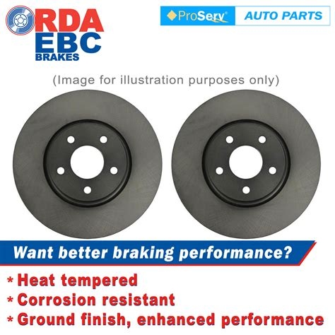 Rda121 , Front Pair Rda Disc Brake Rotors Ford F100 Hat