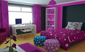 Room Decor Ideas For Teenage Girl With Purple Themes