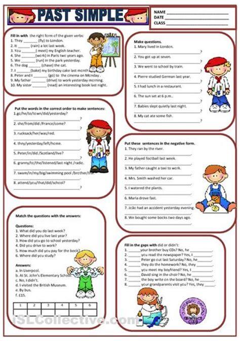 past simple worksheet free esl printable worksheets made by teachers english stuff pinterest