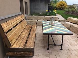 Table Pour Terrasse : salon de jardin palette bois fabrication avantages entretien ~ Teatrodelosmanantiales.com Idées de Décoration