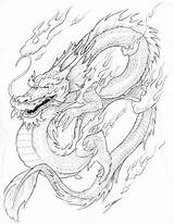 Dragon Chinese Coloring Pages Printable Adults Oriental sketch template