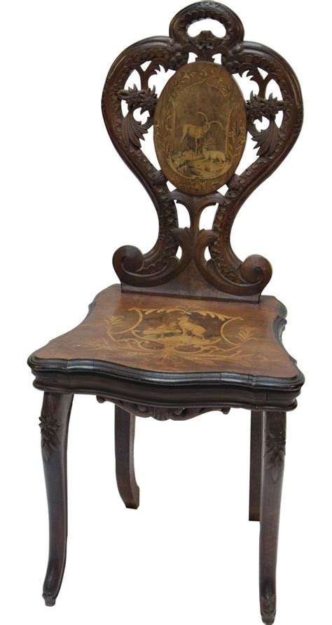 chaise musical early inlaid wood german black forest musical chair