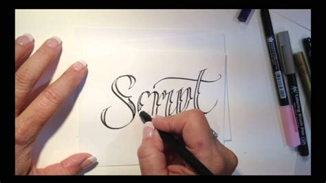tattoo style lettering  lisa engelbrecht youtube
