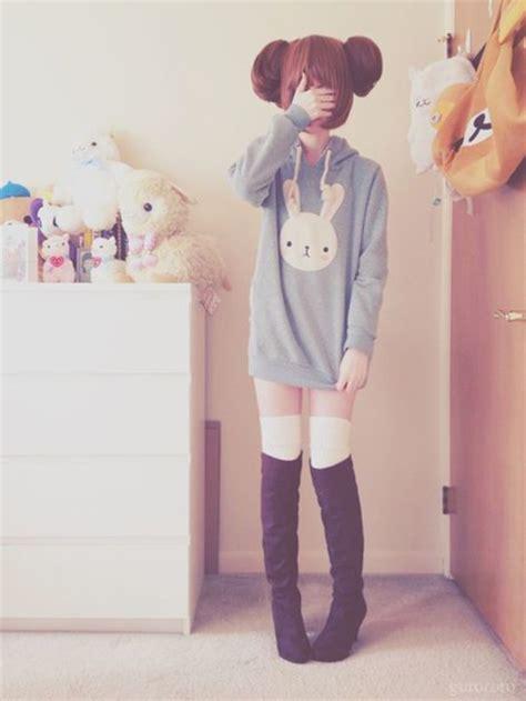 Sweater kawaii kawaii outfit lovely cute pastel bunny hoodie pastel hoodie pastel goth ...