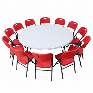 Table Ronde 12 Personnes : table pliante ronde diam tre 183 cm pliante en malette ~ Melissatoandfro.com Idées de Décoration