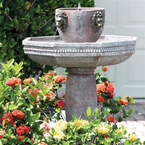 solar garden fountains smart solar on demand s solar estate