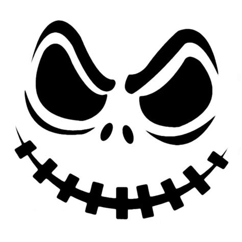Scary O Lantern Template by Best Photos Of Printable Pumpkin Carving Templates