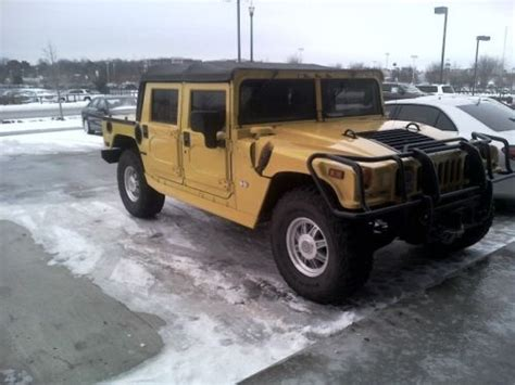original hummer h1 buy used 2002 hummer h1 diesel open top genuine