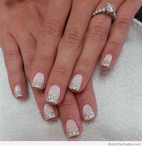 botanic nails glitter tips white out