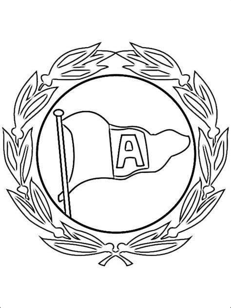 escudo del arminia bielefeld  colorear dibujos  colorear