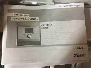 Vaillant Wireless Thermostat Instructions