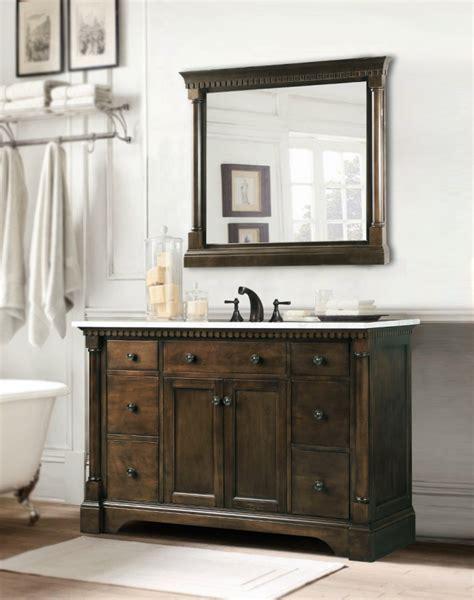 Bathroom Vanity 48 Inch Sink by 48 Inch Single Sink Bathroom Vanity In Antique Coffee
