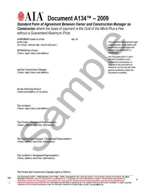standard form of agreement between owner and contractor a134 2009 standard form of agreement between owner and