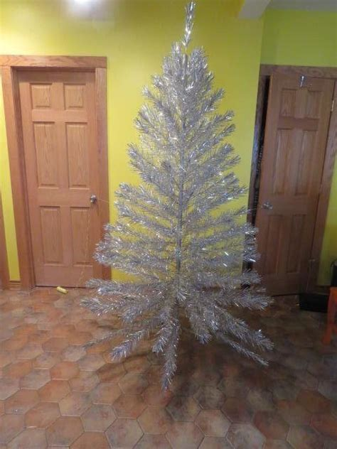 silver forest aluminum christmas tree silver forest 7 foot aluminum tree in box from hodgepodgelodge on ruby