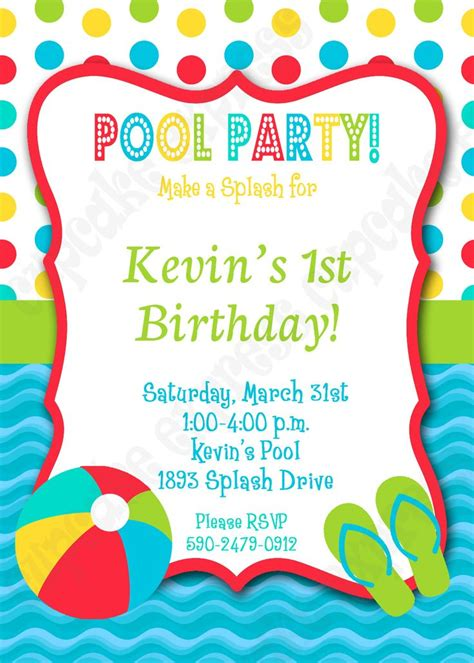 17 Best Images About Pool Party Birthday Ideas On