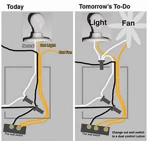 Ceiling fan light wiring