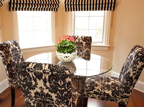black and white dining room chairs hgtv