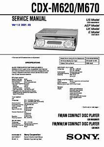 Sony Cdx-m620  Cdx-m670 Service Manual
