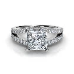 split shank halo engagement rings split shank princess cut engagement ring