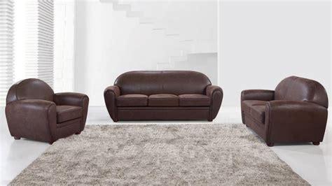 canape cuir marron salon en microfibre imitation vintage avec canapé 3