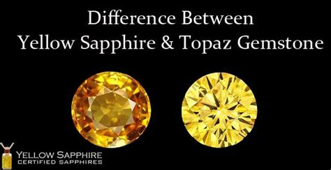 difference  yellow sapphire  topaz gemstone