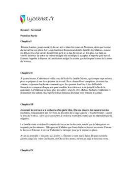 r 233 sum 233 de germinal par chapitre lyceenet fr