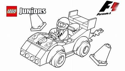 Coloring Lego Pages Formula Cars Racing Race