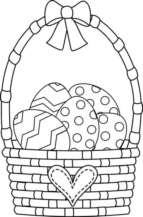 amazing easter basket coloring pages  ur break family inspiration magazine