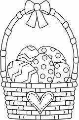 Easter Coloring Basket Amazing sketch template
