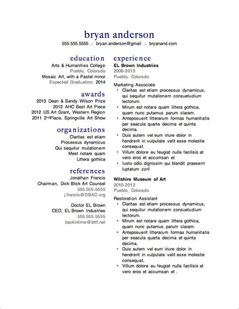 Free Template Resume by 12 Resume Templates For Microsoft Word Free Primer