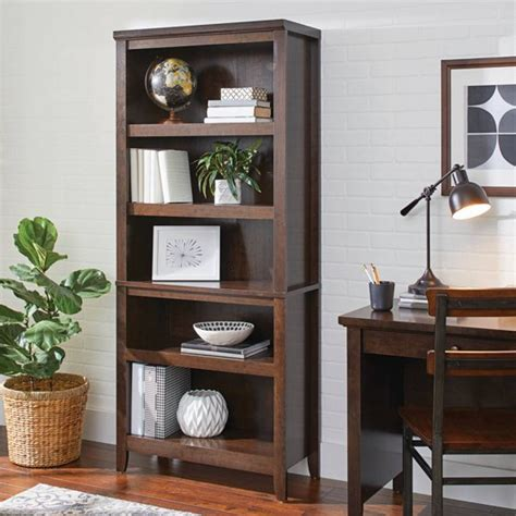 Bookcases Cherry Finish by Better Homes And Gardens 5 Shelf Bookcase Classic