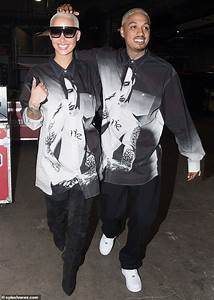 Amber Rose And Her Bf Wear Matching Marilyn Manson Shirts