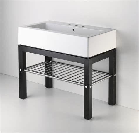 Single Sink Consoles Bathroom by Wood Four Leg Single Console Contemporary Bathroom