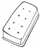Catstamps Cream Ice Sandwich Drawing sketch template