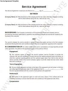 service agreement template  general contract