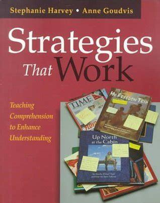 strategies  work teaching comprehension  enhance