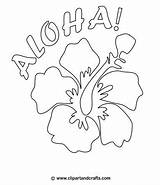 Hawaiian Coloring Pages Flower Aloha Flowers Drawing Hawaii Printable Luau Pattern Lei Hibiscus Tropical Lilo Dance Party Stitch Colouring Crafts sketch template