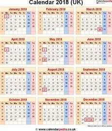 2018 calendar uk with week numbers calendar printable free