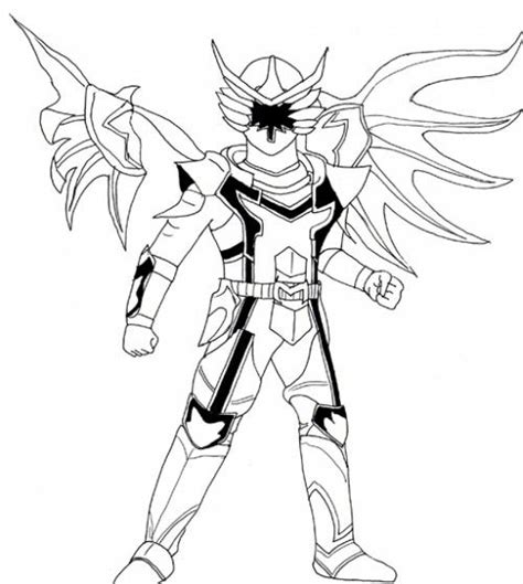 Kleurplaat Dino Power Rangers by Power Rangers A Great Wing Coloring Page Coloring