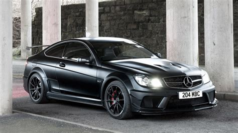 mercedes benz  amg coupe black wallpapers hd