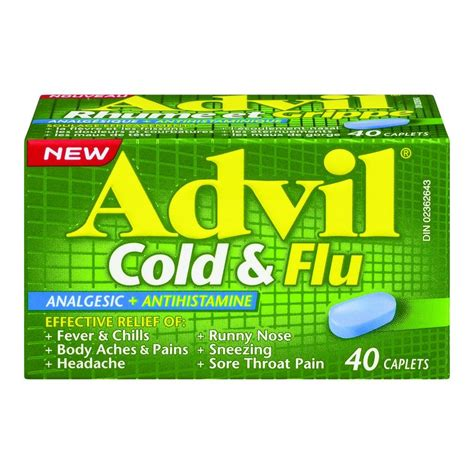 Buy ADVIL Cold & Flu Analgesic   Antihistamine 40 Caplets from Value Valet