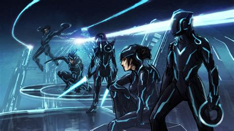 Stoo's Art Blog: Tron inspired art now with color