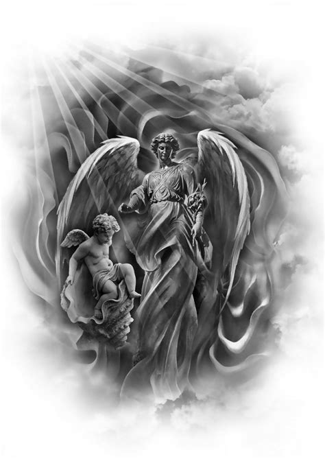 273 best images about Angle,cirub and Fairy on Pinterest | Archangel tattoo, Chicano and Angel