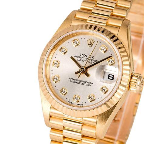 Rolex Ladies President 79178 Silver Diamond Dial