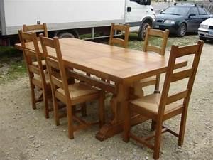 Table Chene Massif Rustique : table monast re 250x100 en ch ne massif meuble en ch ne massif ~ Teatrodelosmanantiales.com Idées de Décoration
